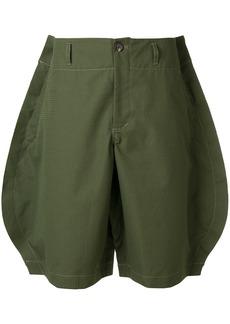 Comme Des Garçons Shirt oversized raw-cut shorts - Green