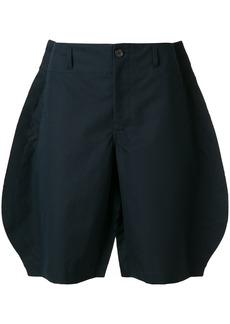 Comme Des Garçons Shirt oversized raw-hem shorts - Blue