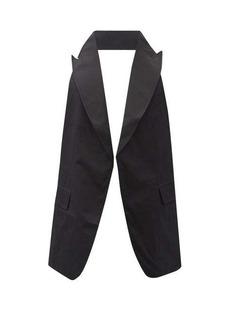 Comme des Garçons Shirt Peak-lapel cotton backless waistcoat
