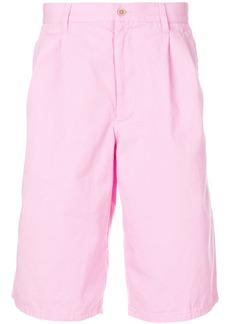 Comme Des Garçons Shirt pleated detail deck shorts - Pink & Purple