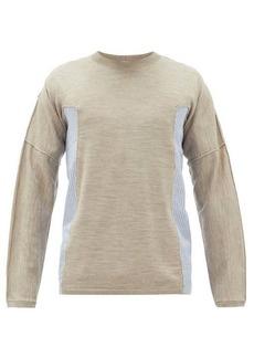 Comme des Garçons Shirt Poplin-insert wool-jersey T-shirt