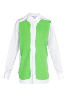 Comme des Garçons Shirt Raw-edge cotton-poplin shirt