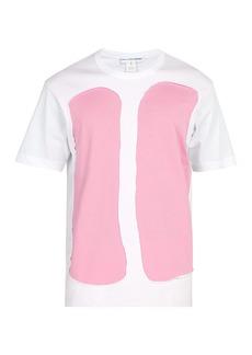 Comme des Garçons Shirt Raw-edge cotton T-shirt