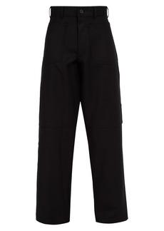 Comme des Garçons Shirt Reverse-pocket wool trousers