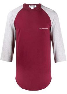 Comme des Garçons logo print colour block T-shirt
