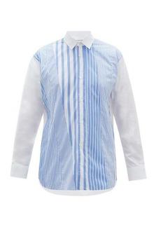 Comme des Garçons Shirt Striped cotton-poplin shirt