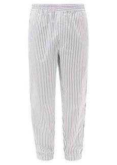 Comme des Garçons Shirt Striped cotton-poplin trousers