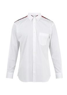 Comme des Garçons Shirt Tartan-yoke patch-pocket cotton shirt