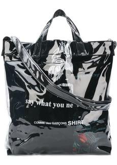 Comme des Garçons laminated shopper bag