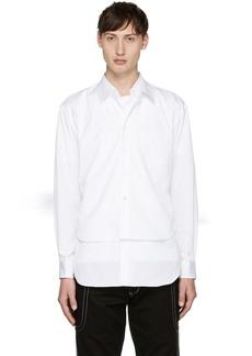 Comme des Garçons Shirt White Double Shirt