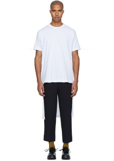 Comme des Garçons Shirt White Short/Long T-Shirt