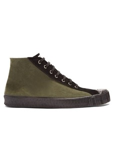 Comme des Garçons Shirt X Spalwart Special mid-top suede trainers
