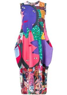 Comme Des Garçons sleeveless print dress - Multicolour