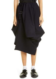 Comme des Garçons Tasmania Belted Wool Flannel Skirt