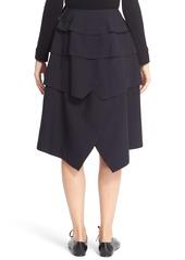 Comme des Garçons 'Tropical' Asymmetrical Tiered Wool Skirt