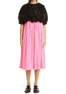Comme des Garçons Velveteen Bodice Midi Dress