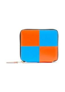 Comme des Garçons Wallet Check zip-around leather bi-fold wallet