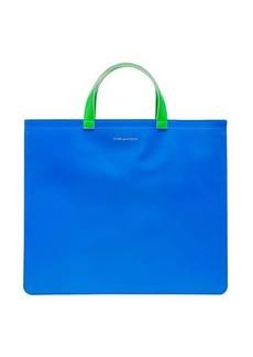 Comme des Garçons Wallet Fluorescent leather tote bag