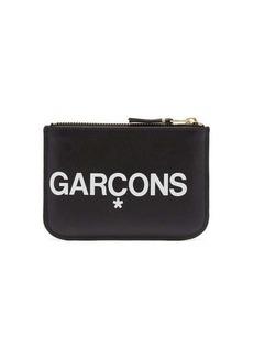 Comme des Garçons Wallet Logo-print leather pouch