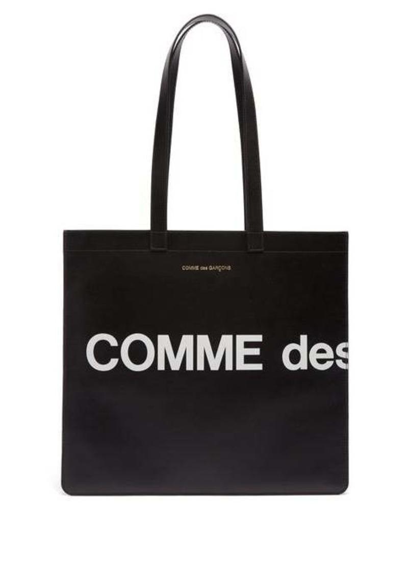 Comme des Garçons Wallet Logo-print leather tote bag
