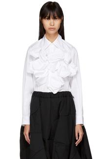 Comme des Garçons White Front Attachment Shirt