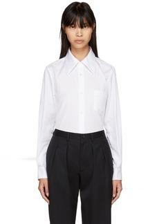 Comme des Garçons White Pointed Collar Shirt
