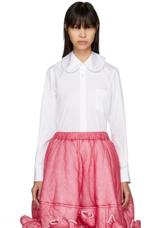 Comme des Garçons White Round Collar Shirt