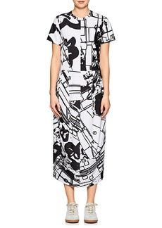 Comme des Garçons Women's Abstract-Print Tech-Jersey Shirtdress