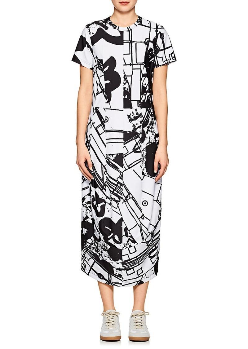 Comme des Garçons Women's Abstract-Print Tech-Jersey Shirtdress