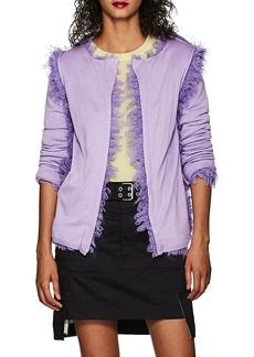 Comme des Garçons Women's Bouclé-Trimmed Wool-Blend Open-Front Cardigan