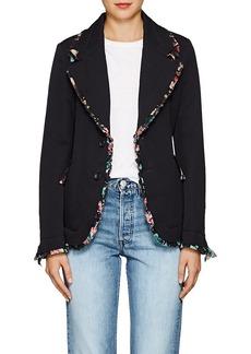 Comme des Garçons Women's Chiffon-Trimmed Wool Two-Button Blazer