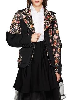 Comme des Garçons Women's Cutout Floral Crepe Two-Button Blazer