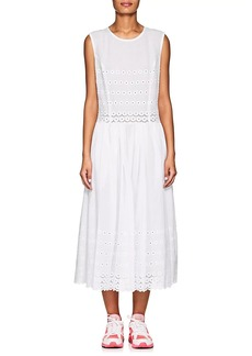 Comme des Garçons Women's Embroidered Cotton Voile Midi-Dress