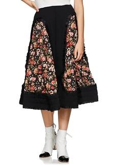 Comme des Garçons Women's Floral Crepe Full Skirt