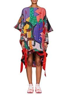 Comme des Garçons Women's Graffiti-Print Piqué Oversized T-Shirt Dress