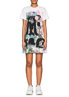 Comme des Garçons Women's Graphic Print Mesh T-Shirt Dress