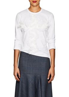 Comme des Garçons Women's Lace-Appliquéd Cotton T-Shirt