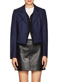 Comme des Garçons Women's Pinstriped Crop Two-Button Blazer