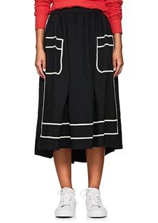 Comme des Garçons Women's Piqué Midi-Skirt