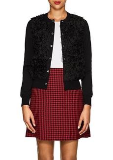 Comme des Garçons Women's Ruffle Wool & Organza Cardigan