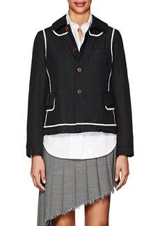 Comme des Garçons Women's Twill Peter-Pan-Collar Jacket