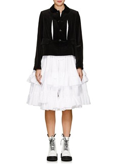 Comme des Garçons Women's Velvet Jacket & Ruffled Cotton Dress