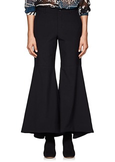 Comme des Garçons Women's Worsted Wool Flared Trousers
