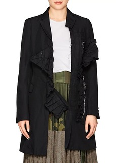 Comme des Garçons Women's Wrinkled Twill Three-Button Coat