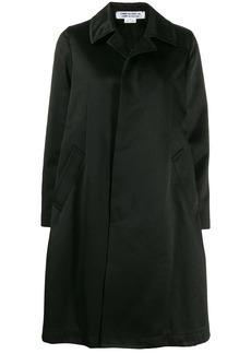 Comme des Garçons concealed front fastening coat