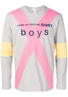 Comme des Garçons contrast cross strip sweatshirt
