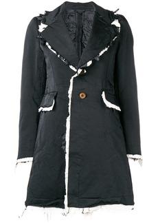 Comme des Garçons contrast frayed edges coat