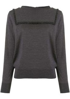 Comme des Garçons contrast-seam knit jumper
