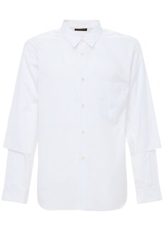 Comme des Garçons Cotton Shirt W/ Layered Sleeves