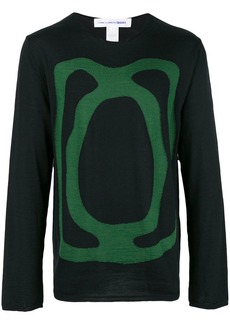 Comme des Garçons crew neck intarsia sweater